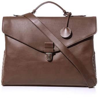 Bottega Veneta Intrecciato Woven Leather Briefcase - Lyst