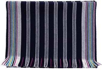Browns Striped Wool Scarf - Lyst