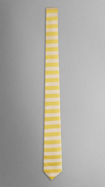 Burberry Horizontal Stripe Silk Tie - Lyst