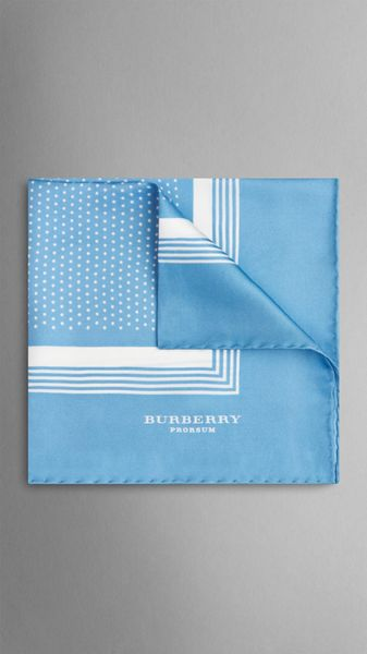 Burberry Framed Dot Print Silk Pocket Square - Lyst