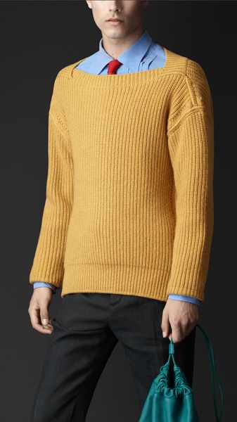 Burberry Guernsey Knit Cashmere Sweater - Lyst