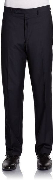 Calvin Klein Hairlinestriped Wool Dress Pants - Lyst