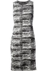 Calvin Klein Sleeveless Knitted Shift Dress - Lyst