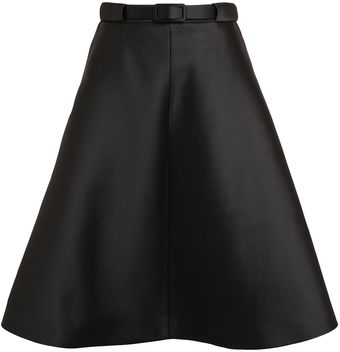Carven Structured Silk Satin Skirt - Lyst