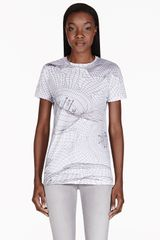 Christopher Kane White Abstract Grid T-shirt - Lyst