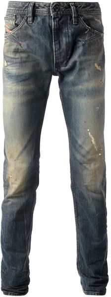 Diesel Distressed Slim Fit Jean - Lyst