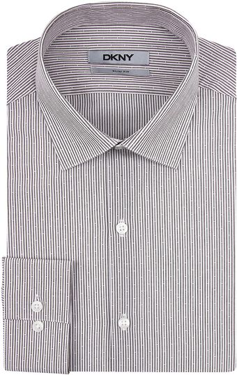 DKNY Broken Stripe Slim Fit Dress Shirt - Lyst