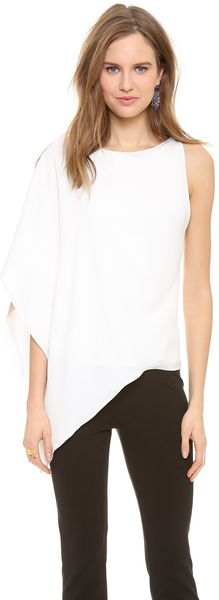 Donna Karan New York Asymmetrical Top - Lyst