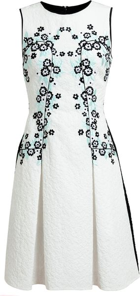 Erdem Adora Embroidered Matelassé Dress - Lyst