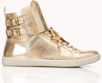 Forever 21 Buckled Hightops - Lyst