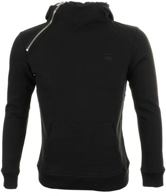 G-star Raw Navy Hooded Jumper - Lyst