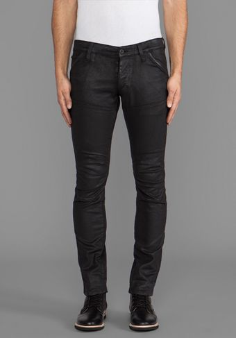 G-star Raw Wood 3d Super Slim in Comfort Black Dark Cobler - Lyst