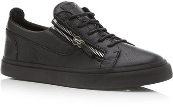 Giuseppe Zanotti Double Zip Low Top Sneaker - Lyst