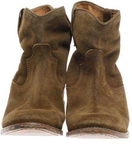 isabel marant crisi suede boots in brown lyst. Black Bedroom Furniture Sets. Home Design Ideas