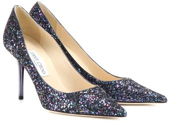 Jimmy Choo Agnes Glitter Pumps - Lyst