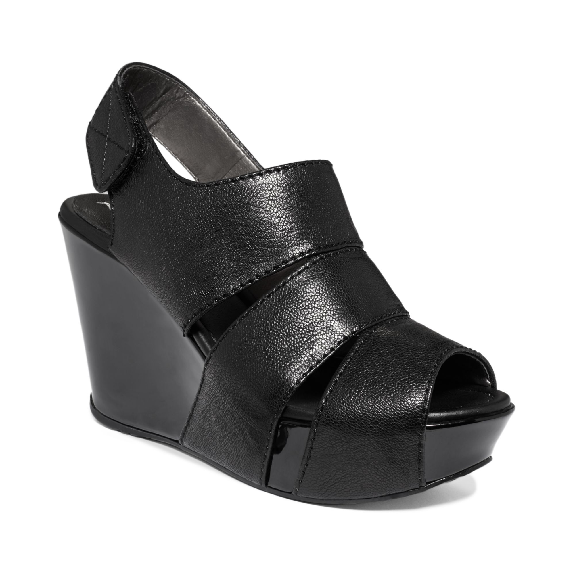 Kenneth Cole Reaction Good Sole Platform Wedge Sandals In