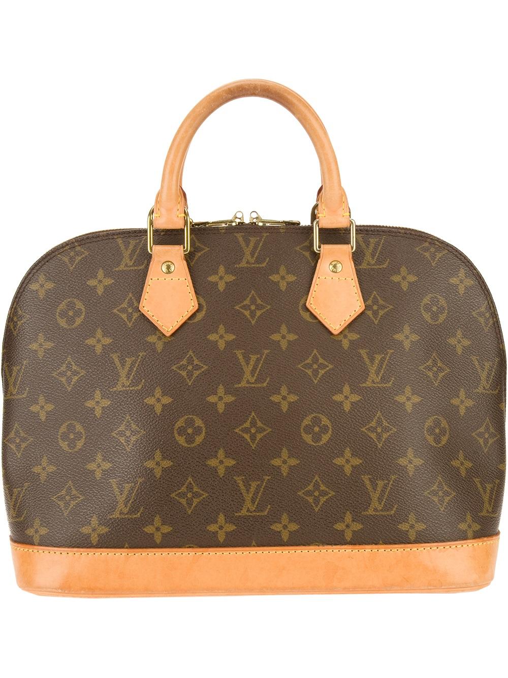 louis vuitton alma handbag in brown lyst