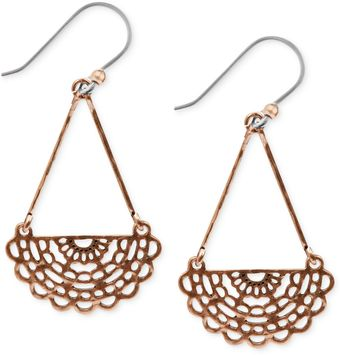 Lucky Brand Goldtone Openwork Chandelier Earrings - Lyst