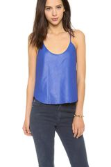 Mason by Michelle Mason Leather Tank - Lyst