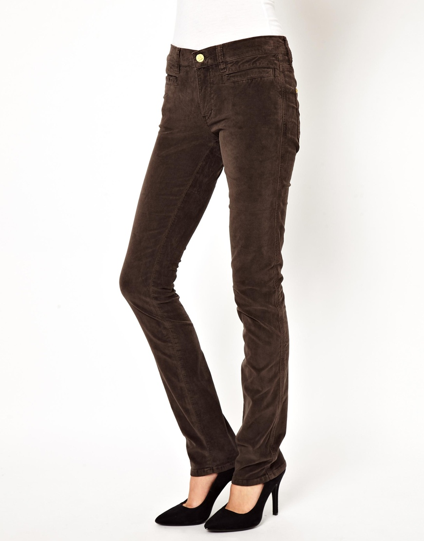 Mih Jeans The Oslo Jeans in Chocolate Velvet in Brown ...