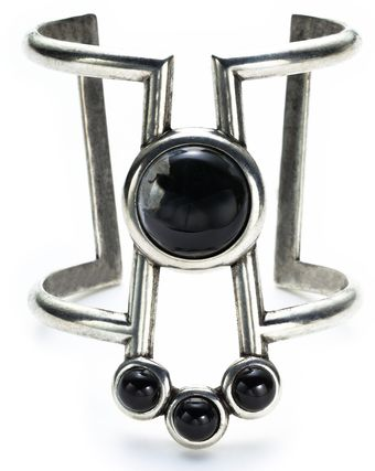 Pamela Love Comet Cuff with Black Agate - Lyst
