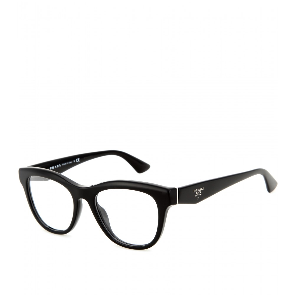 prada d frame optical glasses in black lyst