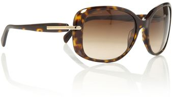 Prada Prada Ladies Pr080s Havana Square Sunglasses - Lyst