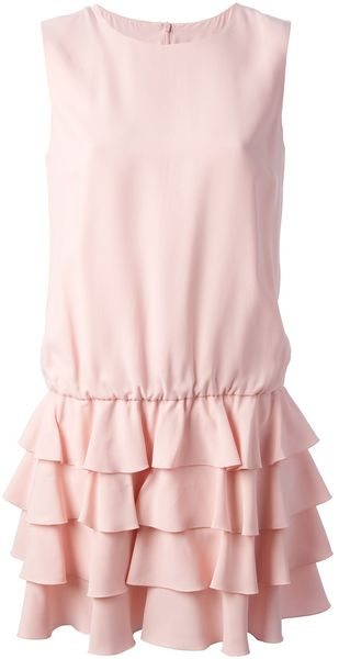 RED Valentino Tiered Shift Dress - Lyst