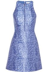 Richard Nicoll Neoprene paneled Python jacquard Dress - Lyst