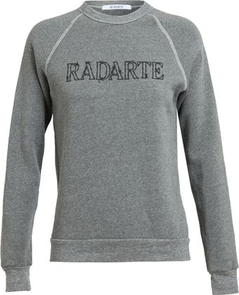 Rodarte Barbed Wire Radarte Printed Sweatshirt - Lyst