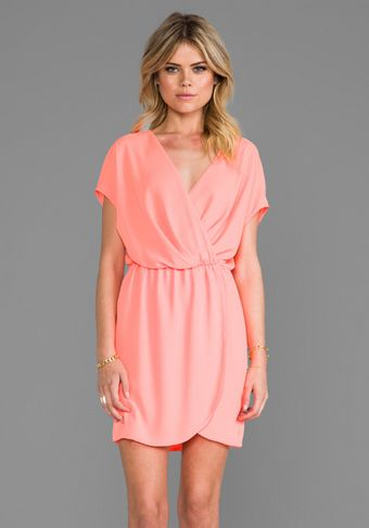 Rory Beca Apopa Overlap Dress in Orange - Lyst