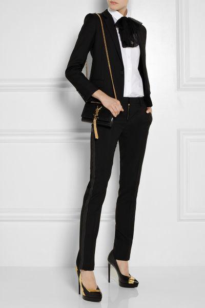 Saint Laurent Cassandre Patent Leather Tassel Shoulder Bag 87