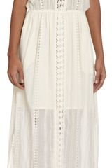 Sea Maxi Eyelet Dress - Lyst