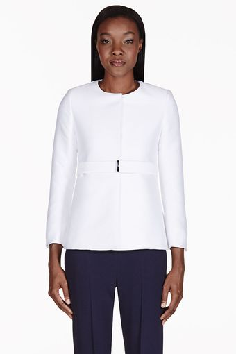 Stella McCartney White Structured Minimalist Jacket - Lyst
