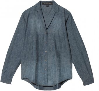 Theyskens' Theory Chambray Cotton Top - Lyst