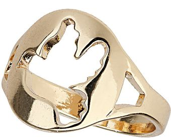 Topshop Cut Out Bird Ring - Lyst