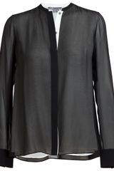 Vince Double Layered Silk Shirt - Lyst