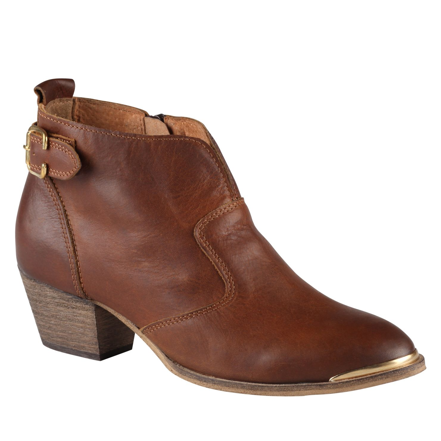 aldo cham leather ankle boots in brown lyst