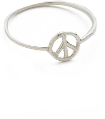 Aurelie Bidermann Peace Ring - Lyst