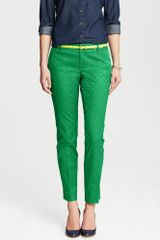 Banana Republic Camden Fit Emerald Medallion Print Ankle Pant Emerald - Lyst