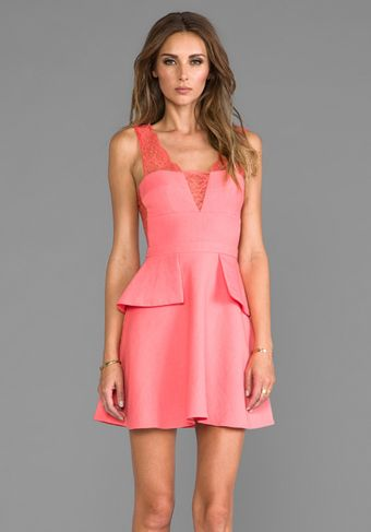 BCBGMAXAZRIA Leeann Dress in Coral - Lyst