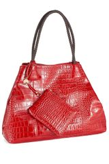Big Buddha Crocodile Leather Tote - Lyst