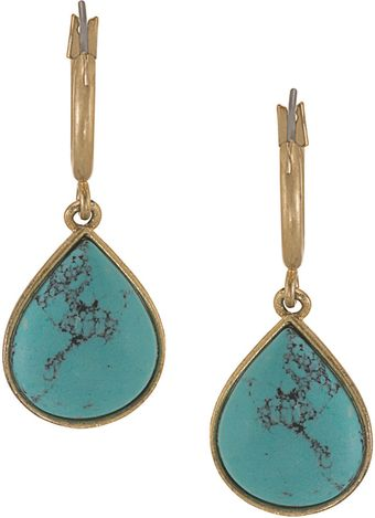 Carolee California Girl Hoop Drop Earrings - Lyst