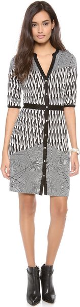 Diane Von Furstenberg Fiona Button Down Dress - Lyst
