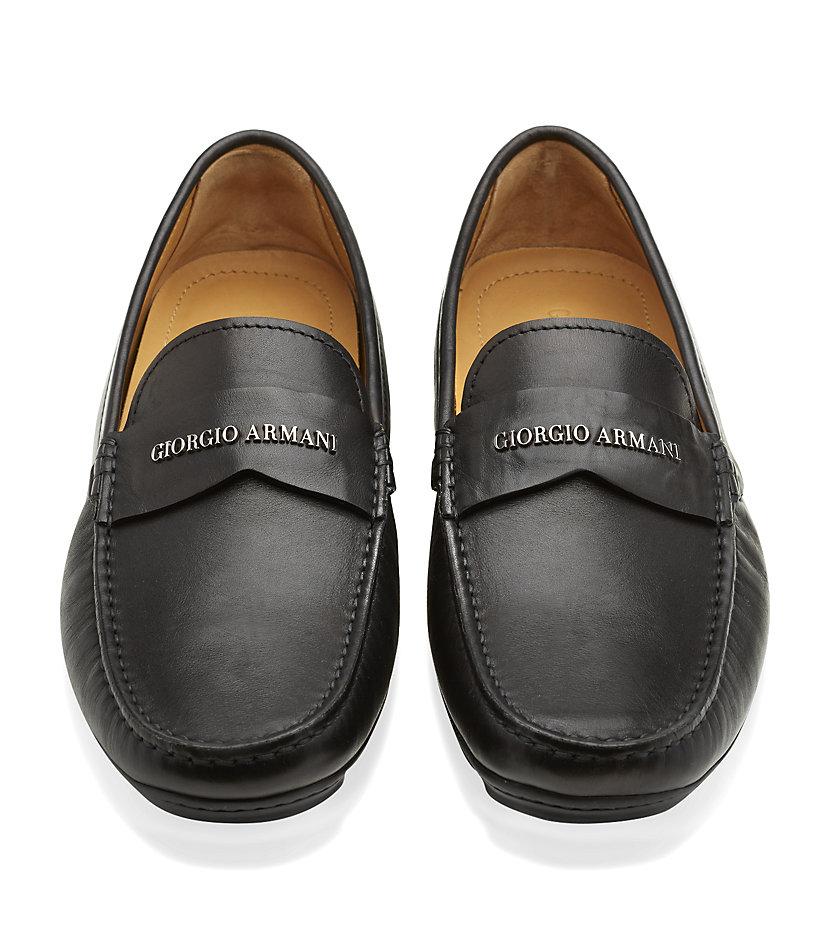 Armani Mens Driving Shoes
