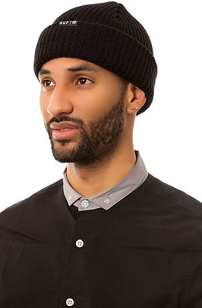 Lyst - Huf The Usual Beanie in Black for Men 792c1c4e433