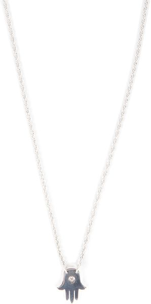 Jennifer Zeuner Faith 12 Hamsa Necklace - Lyst