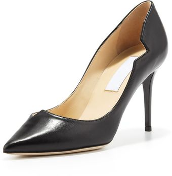 Jimmy Choo Lyric Leather Cutout Pump Black - Lyst