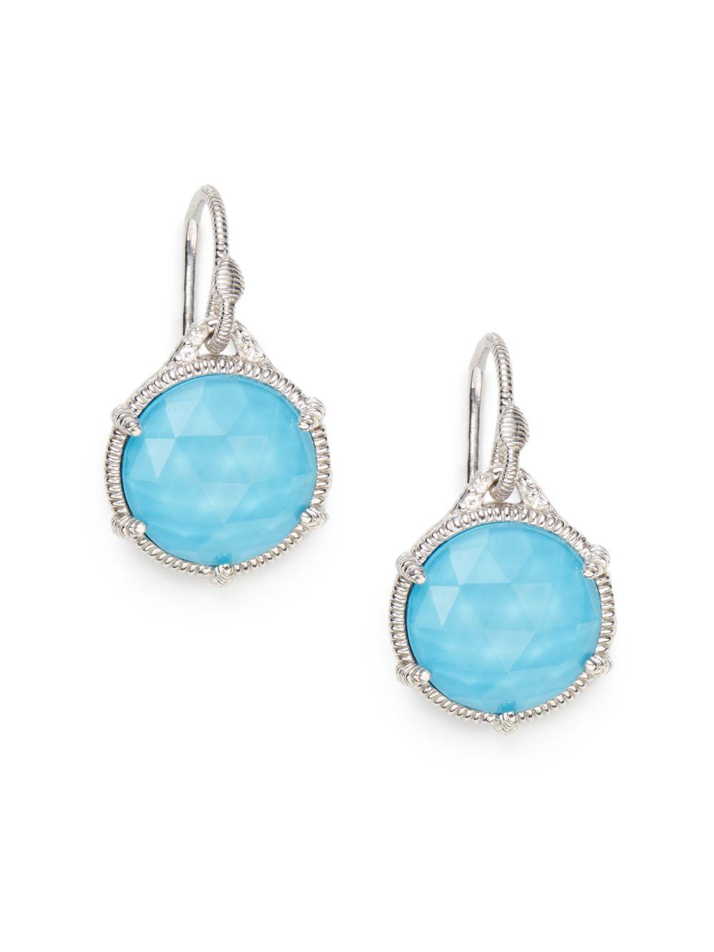 1cf22c6c6 Judith Ripka Eclipse Doublet Drop Earrings in Blue - Lyst