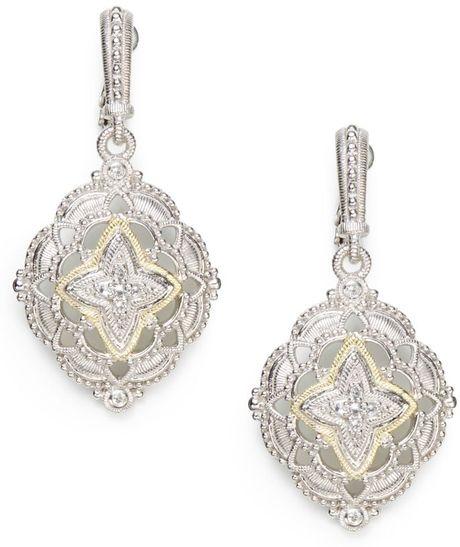 Judith Ripka Windsor White Sapphire Starburst Drop